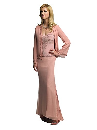 51c3dd0b91f Cameron Blake 18606 Beaded Chiffon Mother of the Bride Dress with Jacket  (16