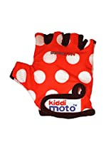 Kiddimoto Guantes Sport Red Dotty (Rojo / Blanco)