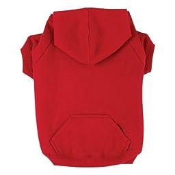 Dog Hooded Sweatshirt - Red - Medium