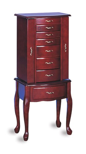 Awardpedia Jewelry Armoire Queen Anne Style Cherry Finish