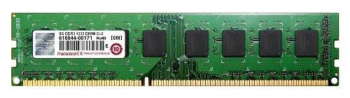 Transcend Information 8Gb Ddr3 1333 Single Module - Desktop Memory 8 (Pc3 10600) Jm1333Klh-8G