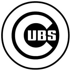 Cubs Vinyl White Sticker 8'' Width By 8'' Height : Everything Else