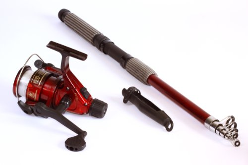 8 ft 4 in telescoping fiberglass fishing rod reel combo 27 for Best collapsible fishing rod