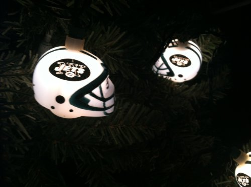 NFL Party String Lights - NY Jets Football Helmet Christmas Lights Sporting Goods Team Sports ...