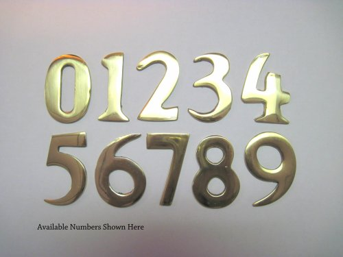 2quot inch self adhesive williamsburg brass mailbox address for Self adhesive house numbers and letters