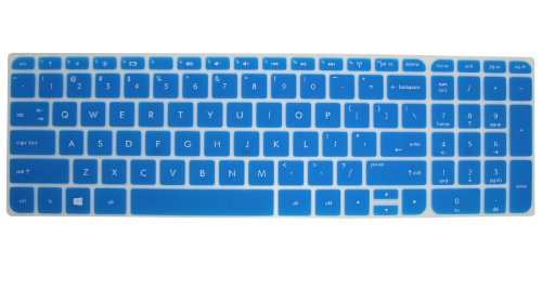 Silicone Keyboard Protector Cover Skin for 15.6-Inch HP Pavilion ENVY 15 TouchSmart Sleekbook 15-j000 15-b000 15t-j000 15t-e000 15z-j000 15z-e000 15z-b000 Notebook PC, such as 15-e014NR, 15-e016NR, 15-e015nr, 15-j050us, 15-j032tx, 15-j030us, 15-j053cl, 15-j010us, 15-j011nr, 15-j023cl,15-b085nr, 15-b150us, 15-b010us, 15z-b000, 15-b120us, 15-b140us US Layout Laptop (Semi-Blue) (Hp Touchsmart 15 Protective Case compare prices)
