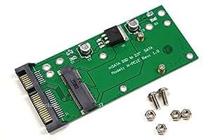 MacLab. mSATA ( Mini SATA ) → 2.5インチ SATA 変換 アダプター 【相性保証付き】