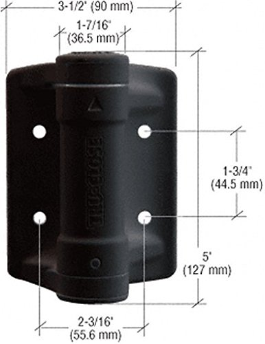 Crl Black Heavy Duty Self Closing Adjustable Hinge By Cr Laurence front-550801