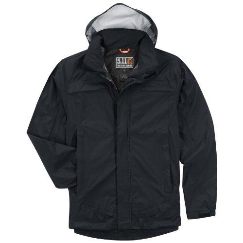 5.11 Tactical Waterproof Tac Dry Rain Shell Mens Jacket Hiking Hunting Dark Navy