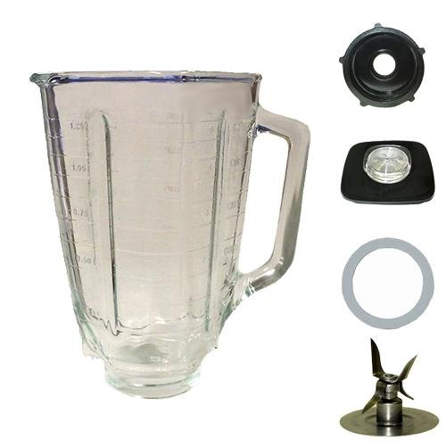 Kitchenaid Blender Parts 5 Cup Square Top Glass Jar Assembly
