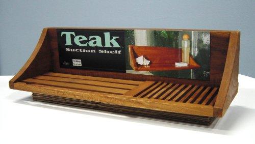 Solid Teak Shower Shelf  Suction Self Hanging !