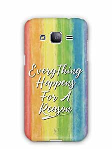 YuBingo Everything Happens For A Reason Designer Mobile Case Back Cover for Samsung Galaxy J2