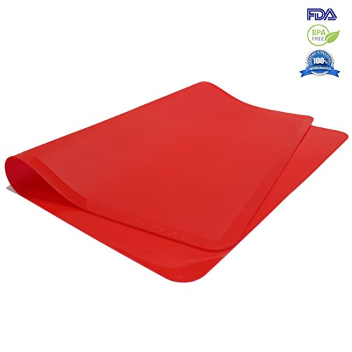 Fontaine Kitchen Silicone Baking Grill Mat Red