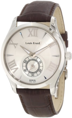 Louis Erard Men's 47207AA21.BDC02 1931 Automatic Silver Dial Black Leather Watch