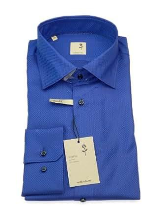 Seidensticker Hemd schwarze Rose slimfit blau Gr. 40 / 01.227188.15 / E.6
