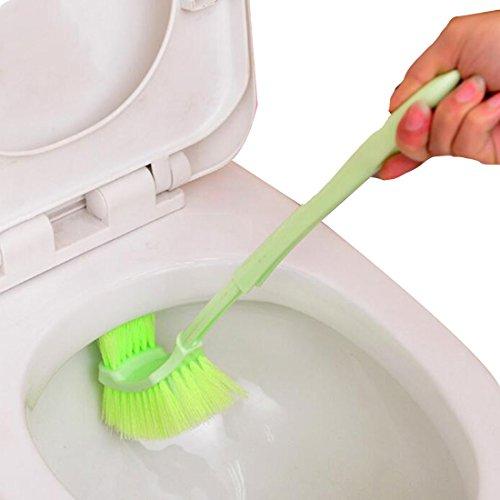 LovelyLifeAST Toilette Portable Brosse En Plastique A Long Manche Salle De Bains Toilettes Bowl Gommage Double Sided