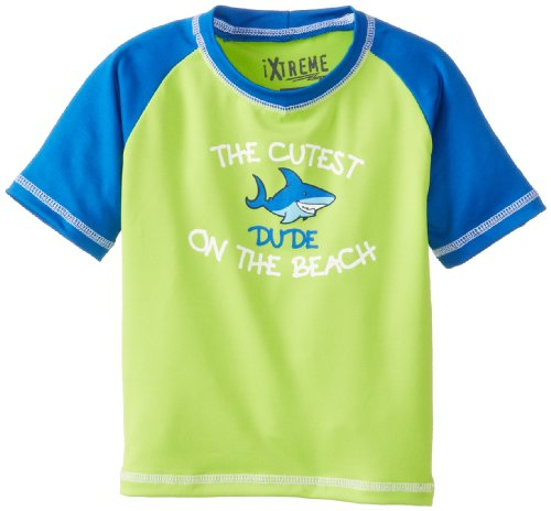 Ixtreme Baby-Boys Infant Cutest On The Beach, Lime, 12 Months front-1008198