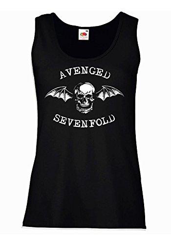 """Canotta Donna """"Avenged Sevenfold"""" - 100% cotone LaMAGLIERIA, S, Nero"""