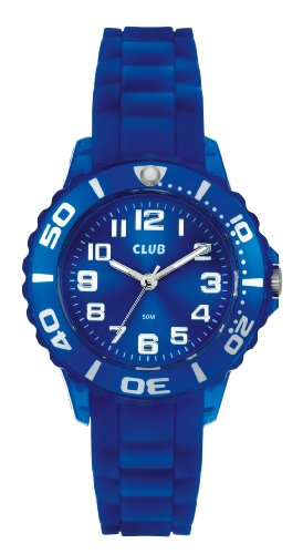 Club Trutti Frutti Kid's Quartz Watch with Blue Dial - Analogue Display and Blue Silicone Strap - A65163BL8A