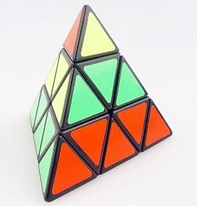 Finegood Shengshou Pyraminx Speedcubing Black Puzzle with One Free Cube Bag