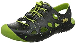 KEEN Rio Sandal, Black/Bright Chartreuse, 6 M US Big Kid