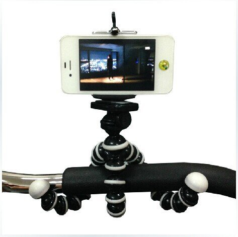 Generic Octopus Tripod Portable And Adjustable Ball-And-Socket Joints Tripod Stand Holder With Phone Mount For Iphone 4 4S 5 5S 5C 3G 3Gs, Samsung Galaxy S3, Gopro Hero 3 2 1, Motorola Droid, Digital Camera, Ipod Classic (White)