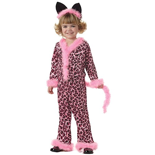 Kid's Pink Leopard Girl Costume (Size: Large 10-12)