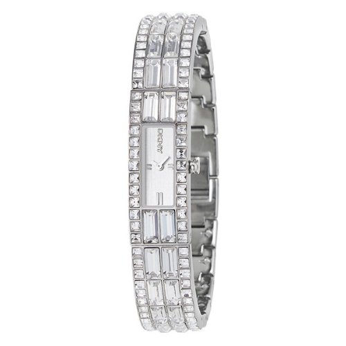 DKNY Crystal Set Silver Bangle Ladies Watch - NY3715