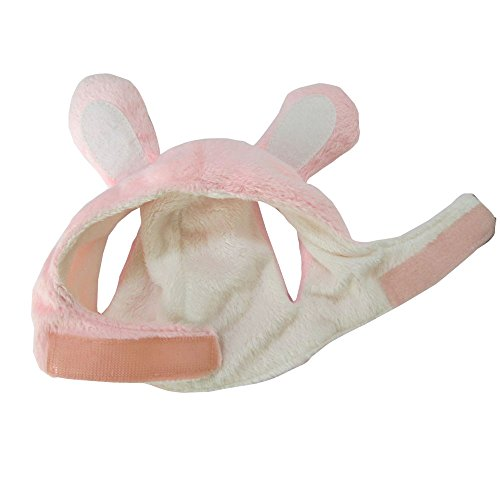 Bro'Bear Bunny Rabbit Hat with Ears for Cats & Small Dogs Party Costume Accessory Headwear (Pink Bunny, Medium)