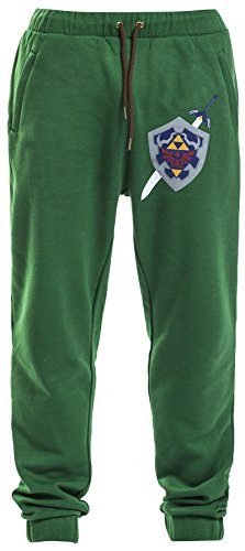 The Legend of Zelda Hyrule Shield Pantaloni jogging verde M