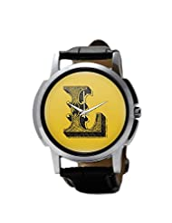 PosterGuy Alphabet L Typography Men's Wrist Watches