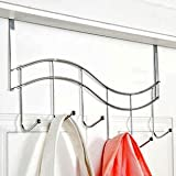 KLOUD ® Wave Style Over-The-Door 5-Hook Suit Clothes Towel Holder Hanger