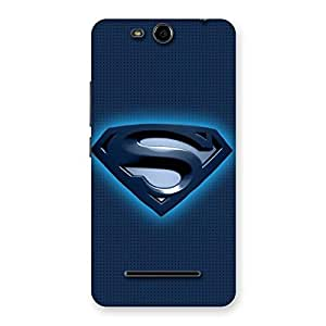 Cute uper Blue Back Case Cover for Micromax Canvas Juice 3 Q392