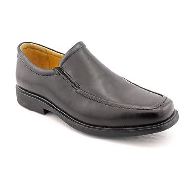 Johnston & Murphy Mens Goodwin Moc Venetian Black Slip-on Dress 10 W (EE)