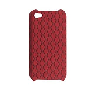 Red Textured Hard Plastic Back Case Cover for iPhone 4 4G