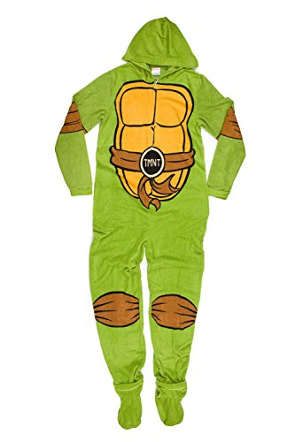 Teenage Mutant Ninja Turtles Adult Green Hooded Union Suit and Masks