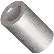 "Round Spacer, 2011 Aluminum, Plain Finish, #8 Screw Size, 1/4"" Length (Pack of 10)"