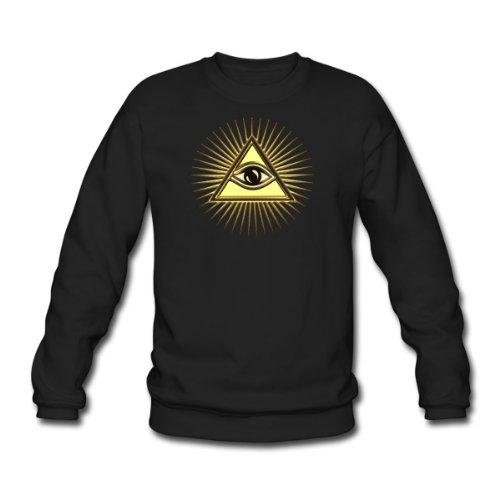 Spreadshirt, Allsehendes Auge Gottes, Pyramide, Freimaurer, Men's Sweatshirt, black, XXL