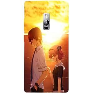 Casotec Girl Boy Sunset Sea Design 3D Hard Back Case Cover for OnePlus 2