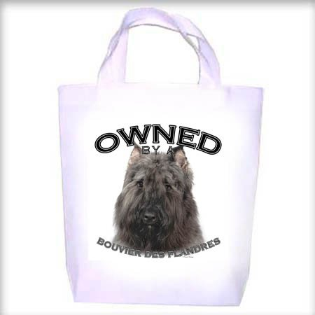 Bouvier des Flandres Owned Shopping - Dog Toy - Tote Bag