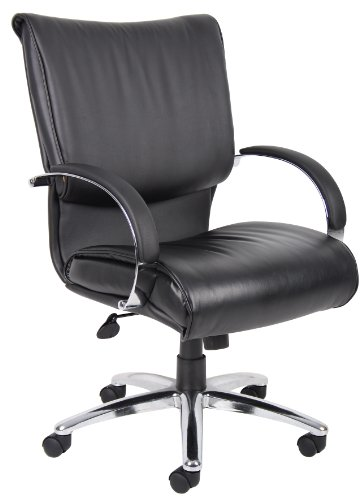 boss-b9706c-mid-back-black-leatherplus-executive-chair-with-chrome-base-and-arms