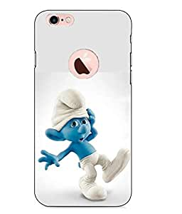 Case Cover Cartoon Printed White Hard Back Cover For Apple Iphone 6