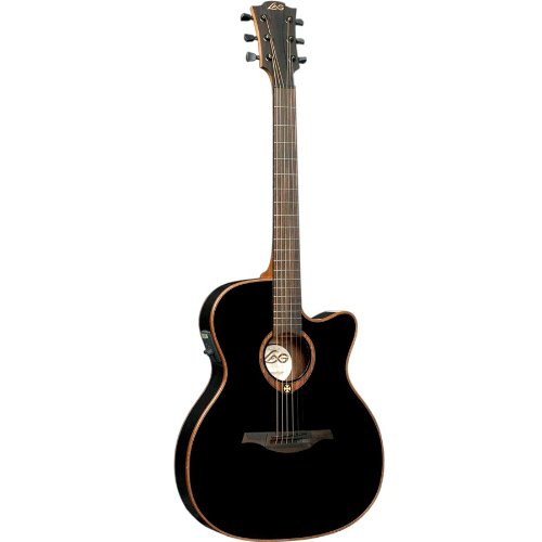 Lag T100ASCE Black Auditorium Cutaway Acoustic-Electric Guitar