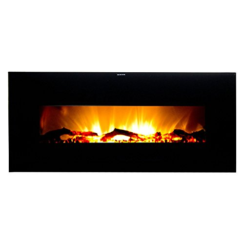 Frigidaire Vwwf-10306 Valencia Widescreen Black Wall Hanging Electric Fireplace With Remote Control