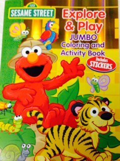 Sesame Street Explore & Play Jumbo Coloring & Activity Book (Includes Sticker) - 1