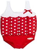 Beverly Kids Girl's Rock and Roll Floating Swimsuit - Red/White, 4-5 Years