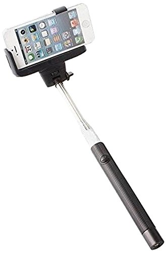 extendable mobile phone selfie stick with in built bluetooth remote button for clicking selfies. Black Bedroom Furniture Sets. Home Design Ideas