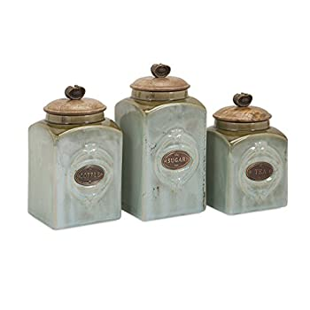 IMAX 73327-3 Addison Ceramic Canisters