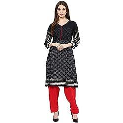 Rangmanch by Pantaloons Womens Casual Kurta 205000005570091_BLACK_S