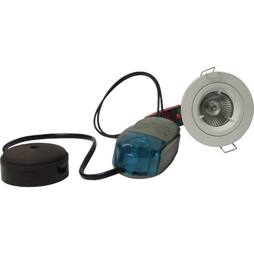 Fire Rated Downlight Fixed MR16 Low Voltage 12v Kit White PK of 5